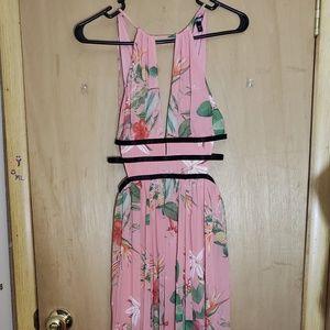 Long xs pink dress